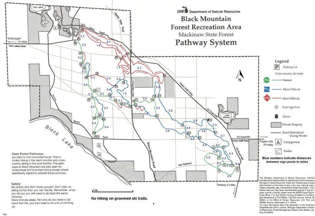 Top of Michigan Trails Council | Black Mountain Recreation Area